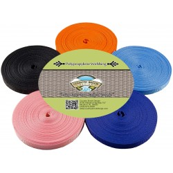 1/2 Inch 10 Yards of 5 Colors Polypro Webbing #2