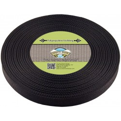 1 Inch Black Polypro Webbing, 25 Yards