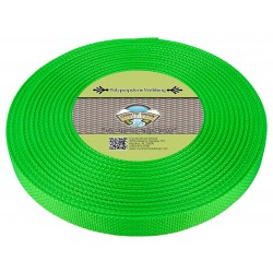 1 Inch Hot Green Polypro Webbing