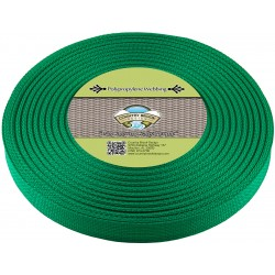 1 Inch Kelly Green Heavy Polypro Webbing