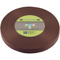 3/4 Inch Milk Chocolate Polypro Webbing