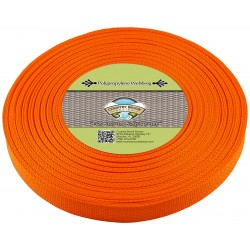 3/4 Inch Orange Polypro Webbing