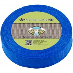 1 1/2 Inch Pacific Blue Polypro Webbing