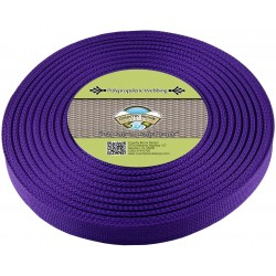 1 Inch Purple Heavy Polypro Webbing