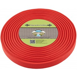 1 Inch Red Heavy Polypro Webbing