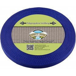 1/2 Inch Royal Blue Polypro Webbing