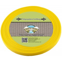 1/2 Inch Yellow Polypro Webbing