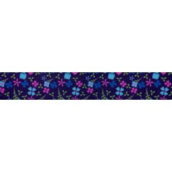 5/8 Inch Blueberry Fields Polyester Webbing