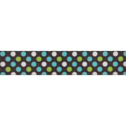 1 Inch Barrington Dots Polyester Webbing