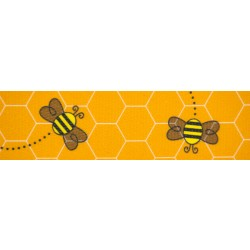 1 1/2 Inch Busy Bee Polyester Webbing