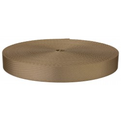 7/8 Inch Beige Polyester Webbing Closeout