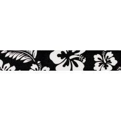 1 Inch Black Hawaiian Polyester Webbing