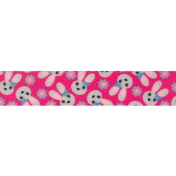 1 Inch Spring Bunnies Polyester Webbing