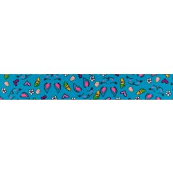 1 Inch Blue Bunny Polyester Webbing