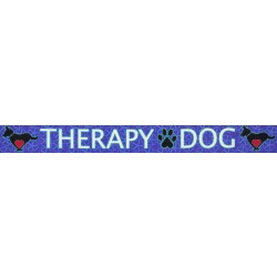 1/2 Inch Blue Therapy Dog Photo Quality Polyester
