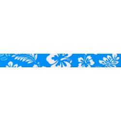 3/8 Inch Blue Hawaiian Polyester Webbing