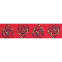 1 Inch Celtic Motherhood Knot Polyester Webbing Closeout, 1 Yard