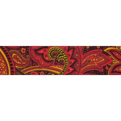 1 1/2 Inch Fire Paisley Polyester Webbing