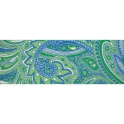2 Inch Green Paisley Polyester Webbing