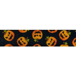 5//8 Inch When Pumpkins Fly Polyester Webbing Closeout 5 Yards
