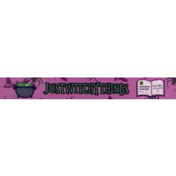 3/4 Inch Just Witchy Things Polyester Webbing