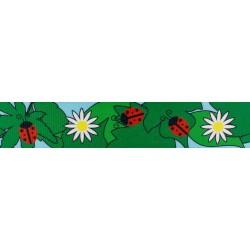 1 Inch Ladybug Picnic Polyester Webbing