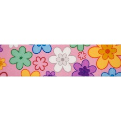 5/8 Inch May Flowers Polyester Webbing