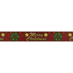 1 Inch Merry Christmas Polyester Webbing
