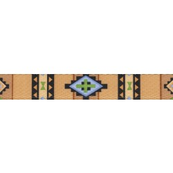 1 Inch Native Southwestern Polyester Webbing Closeout, 1 Yard