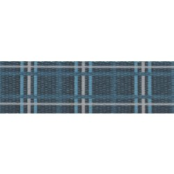 1 Inch Navy Plaid Polyester Webbing