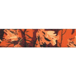 1 Inch Orange Sunset Camo Polyester Webbing