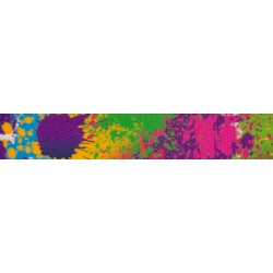 5/8 Inch Paint Splatter Polyester Webbing