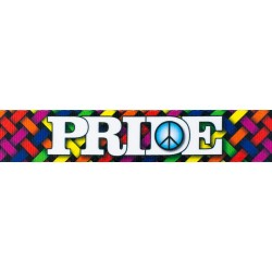 1 1/2 Inch Pride and Peace Polyester Webbing