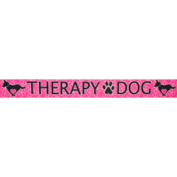 5/8 Inch Pink Therapy Dog Polyester Webbing