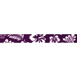 1 Inch Purple Hawaiian Polyester Webbing