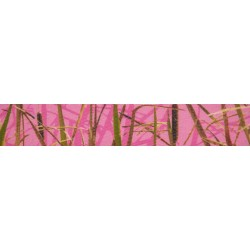5/8 Inch Pink Waterfowl Camo Polyester Webbing