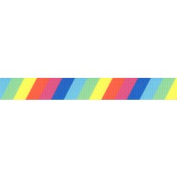 1 Inch Rainbow Stripes Polyester Webbing
