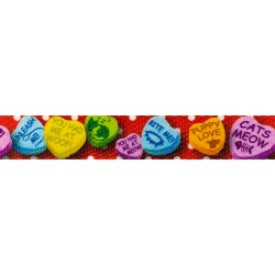1 Inch Red Valentine's Candy Polyester Webbing