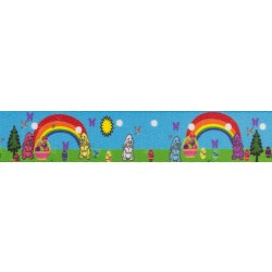 1 Inch Sunny Bunny Polyester Webbing Closeout, 1 Yard