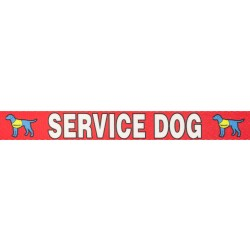 1 Inch Red Service Dog Polyester Webbing