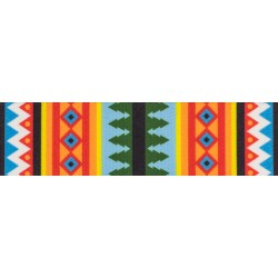 3/4 Inch Summer Pines Polyester Webbing