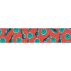 5/8 Inch Tropical Tango Polyester Webbing