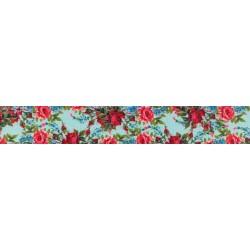 1 Inch Vintage Roses Polyester Webbing