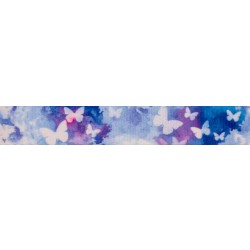 5/8 Inch Watercolor Butterflies Polyester Webbing