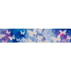 1 1/2 Inch Watercolor Butterflies Polyester Webbing