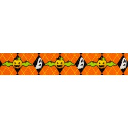 1 Inch When Pumpkins Fly Polyester Webbing