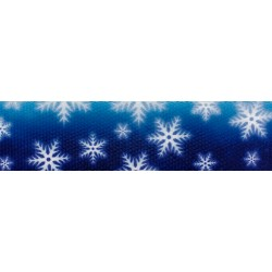 1 Inch Winter Wonderland Polyester Webbing