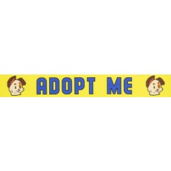 1 Inch Yellow Adopt Me Polyester Webbing - Closeout