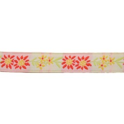 5/8 Inch Sunshine Flowers Jacquard Braid Ribbon