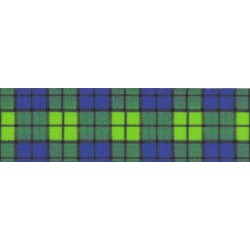 3/4 Inch Blue and Green Plaid Photo Quality Polyester